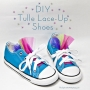 No-Sew DIY Tulle Lace-Up Shoes