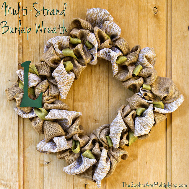 The Spohrs Are Multiplying Diy Multi Strand Burlap Wreath