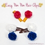 Easy Pom Pom Hair Clips