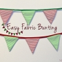 Easy Fabric Bunting