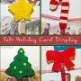 felt holiday card display clips