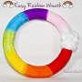 easy rainbow wreath