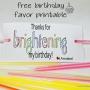 Easy Birthday Favor Printable