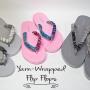 easy yarn-wrapped flip flops