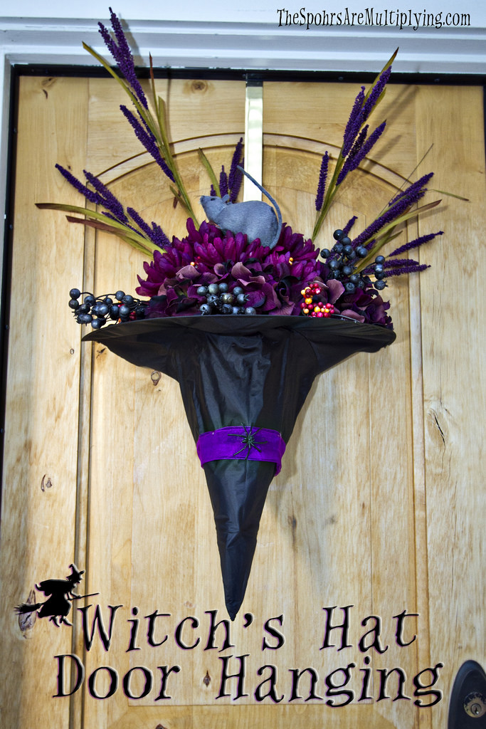 The Spohrs Are Multiplying Diy Witch S Hat Door Hanging