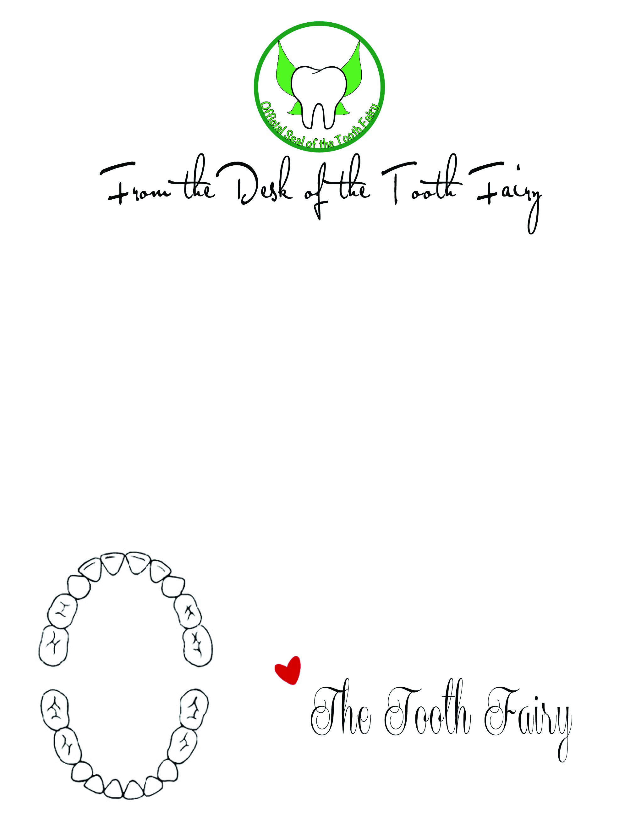The spohrs are multiplying tooth fairy letters for Free printable tooth fairy letter template